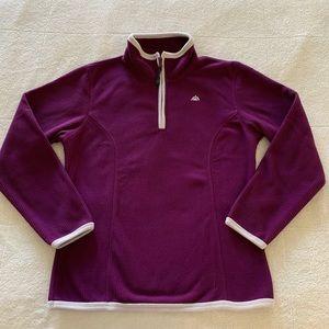 Snozu Purple 1/4 Zip Fleece Pullover. Size Medium